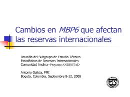 BPM6: Reserve assets