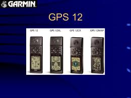 GPS 12 - GARMIN - TECNOLOGIA ESTRATEGICA