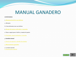 MANUAL GANADERO