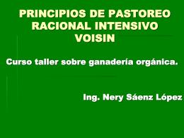 PRINCIPIOS DE PASTOREO RACIONAL INTENSIVO VOISIN