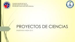 PROYECTOS DE CIENCIAS