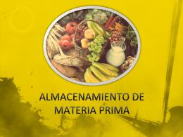 ALMACENAMIENTO DE MATERIA PRIMA