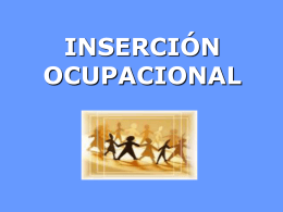 INSERCCION OCUPACIONAL