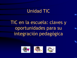 TIC en la escuela: claves y oportunidades para su