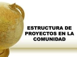 ESTRUCTURA DE PROYECTOS EN LA COMUNIDAD