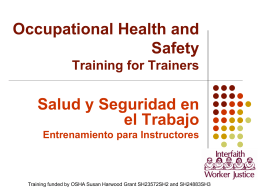 Occupational Injuries and Use of PPE among Hispanic