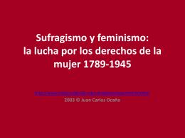Sufragismo y feminismo: lu