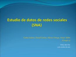 Estudio de datos de redes sociales (SNA)