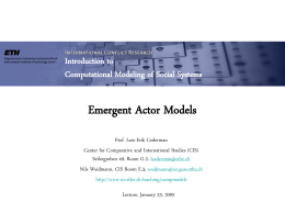 Emergent Actor Models