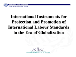 International Instruments for Global Trade Union …