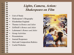 Lights, Camera, Action Shakespeare on Film
