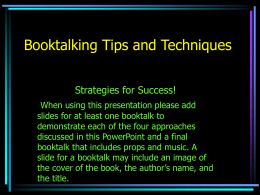 Booktalking Tips