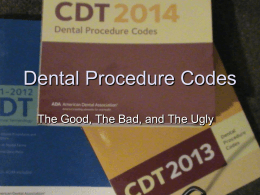 Dental Procedure Codes