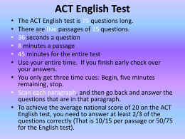 ACT English Test - Scott County Schools