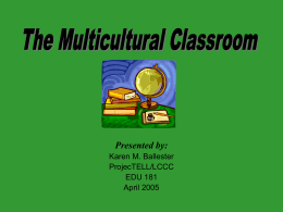 PowerPoint Presentation - The Multicultural Classroom
