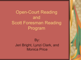 Open-Court Reading and CORE Reading Program