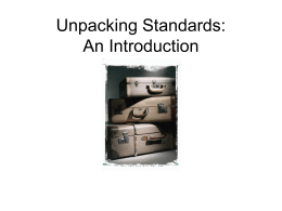 Unpacking Standards Revisited