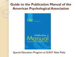 Guide to APA ( 6th Edition )