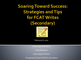 FCAT Writing Strategies - School District of Palm Beach …