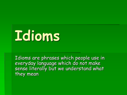 Idioms PPT from Pete's PowerPoint Station
