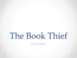 The Book Thief - Harrison High School