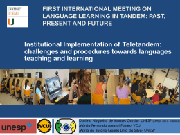 First international meeting on Language learning in …