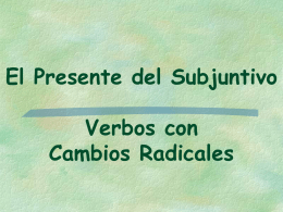 Present Subjunctive of Stem