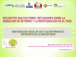 REINTEGRACION SOCIAL DE LOS RETORNANTES Y LA …