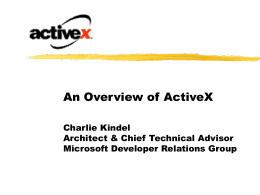ActiveX Overview