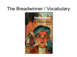 The Breadwinner / Vocabulary