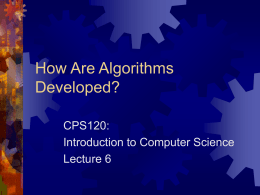How Are Algorithms Developed?
