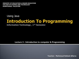 Introduction To Programming Information Technology , …
