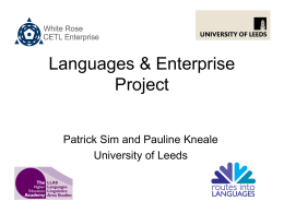 Languages & Enterprise Project