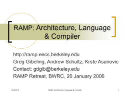 RAMP Architecture & Description Language