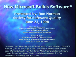 How Microsoft Build Software
