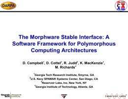Conceptual Model of PCA Architectures and Morphware
