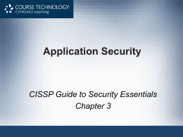 CISSP Guide to Security Essentials, Ch4