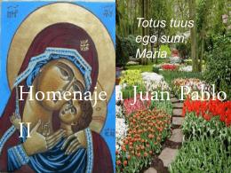 Homenaje a Juan Pablo II