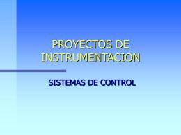 PROYECTOS DE INSTRUMENTACION