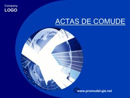 ACTAS DE COMUDE