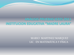 ICFES 2011 - ie