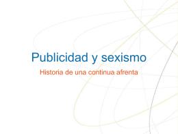 PUBLICIDAD Y SEXISMO - Educastur Hospedaje Web
