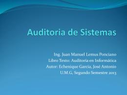 Auditoria de Sistemas - ArchivosUmg 2013