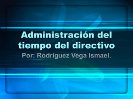 Administracion del tiempo del directivo