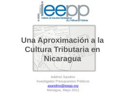 Cultura Tributaria en Nicaragua