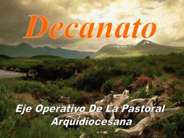 DECANATO EJE OPERATIVO DE LA PASTORAL …