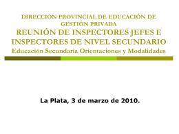 DIRECCION PROVINCIAL DE EDUCACION DE GESTION …