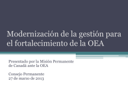 Strengthening the OAS