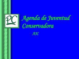 Agenda de Juventud Conservadora.