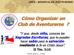 Como Organizar un Club de Aventureros?